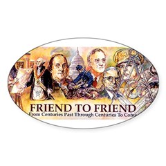 Friend to Friend Oval Sticker (50 pk)
