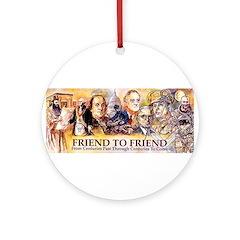 Friend to Friend Ornament (Round)