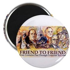 """Friend to Friend 2.25"""" Magnet (10 pack)"""