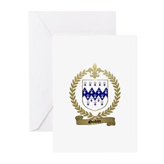 GODIN Family Crest Greeting Cards (Pk of 10)