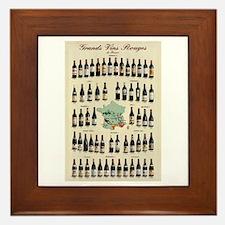 Carte des Vins Framed Tile