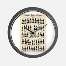 Carte des Vins Wall Clock