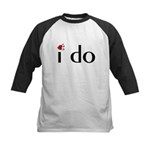 I Do (Lips) Kids Baseball Jersey