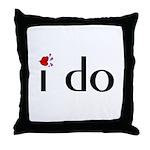 I Do (Lips) Throw Pillow