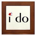I Do (Lips) Framed Tile