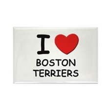 I love BOSTON TERRIERS Rectangle Magnet