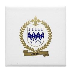 GODIN Family Crest Tile Coaster