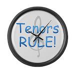 Tenors Rule! Large Wall Clock