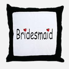 Bridesmaid (RD HRT) Throw Pillow