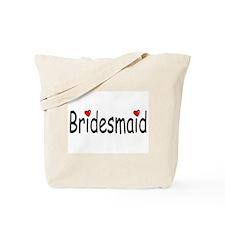 Bridesmaid (RD HRT) Tote Bag
