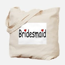 Bridesmaid (RD HRT) Tote Bag