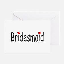 Bridesmaid (RD HRT) Greeting Card