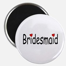 "Bridesmaid (RD HRT) 2.25"" Magnet (10 pack)"