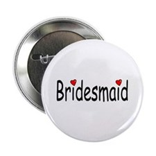 "Bridesmaid (RD HRT) 2.25"" Button (10 pack)"
