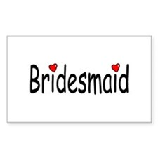 Bridesmaid (RD HRT) Rectangle Decal
