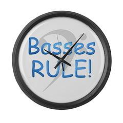Basses Rule! Large Wall Clock
