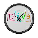 Abstract Diva Large Wall Clock