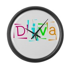 Abstract Diva Large Wall Clock