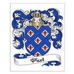 Picot Family Crest Small Poster