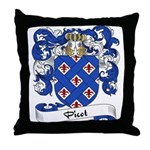Picot Family Crest Throw Pillow