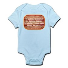 """Tasty Kosher Bacon"" Infant Bodysuit"