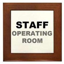 STAFF OR Framed Tile