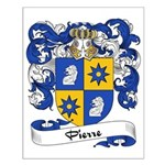Pierre Family Crest Small Poster