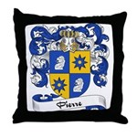 Pierre Family Crest Throw Pillow