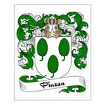 Pineau Family Crest Small Poster