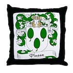 Pineau Family Crest Throw Pillow