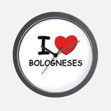I love BOLOGNESES Wall Clock
