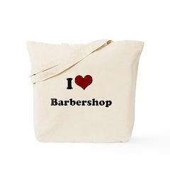 i heart barbershop Tote Bag