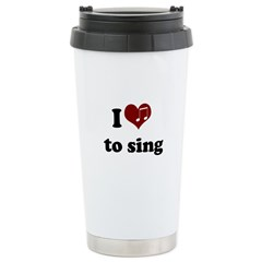 i heart to sing Travel Mug