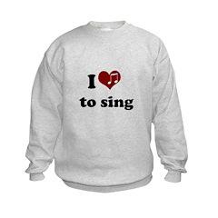 i heart to sing Sweatshirt