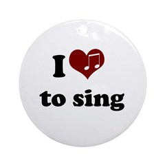 i heart to sing Ornament (Round)