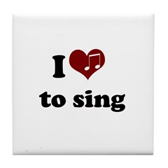 i heart to sing Tile Coaster