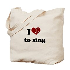 i heart to sing Tote Bag