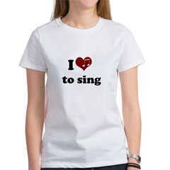 i heart to sing Tee