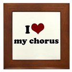i heart my chorus Framed Tile