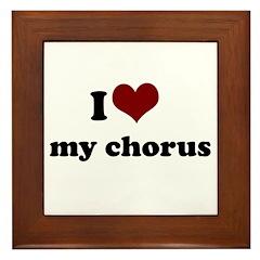 i heart my chorus Framed Tile
