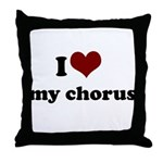 i heart my chorus Throw Pillow