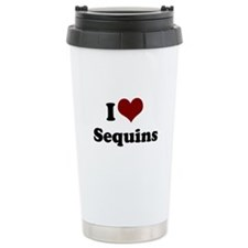 i heart sequins Stainless Steel Travel Mug