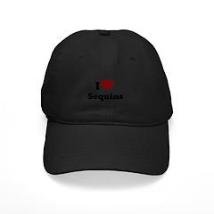 i heart sequins Baseball Hat