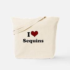 i heart sequins Tote Bag