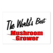 """The World's Best Mushroom Grower"" Postcards (Pack"