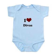 i heart divas Infant Bodysuit