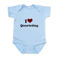 i heart quarteting Infant Bodysuit