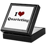 i heart quarteting Keepsake Box