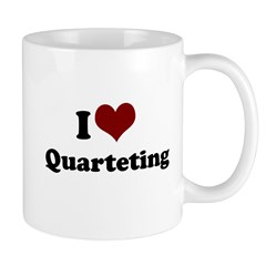 i heart quarteting Mug