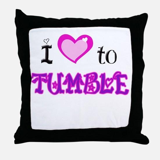 I Love to Tumble Throw Pillow